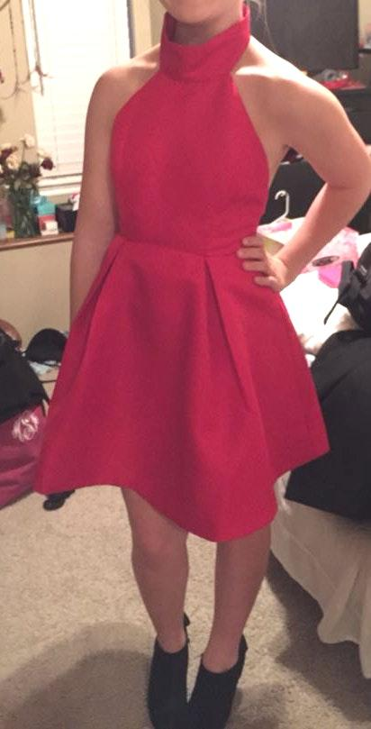 Mustard Seed Backless Short Red Dress