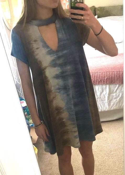 Entro Casual Tie-dye Dress