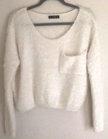 SheIn Cropped & Fuzzy Sweater
