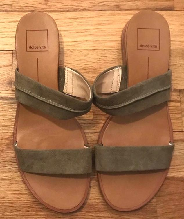 Dolce Vita Army Green Two Strap Sandals