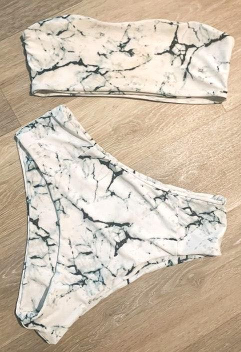 Zaful Marbel Bikini Set
