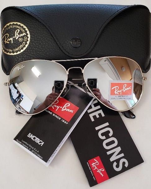 Ray-Ban Ray Bans AVIATOR Mirror Silver RB3026