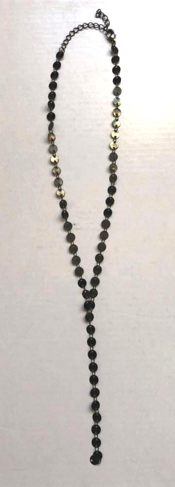 Black Circle Shiny Necklace
