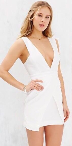Finders Keepers Basic Instinct White Dress