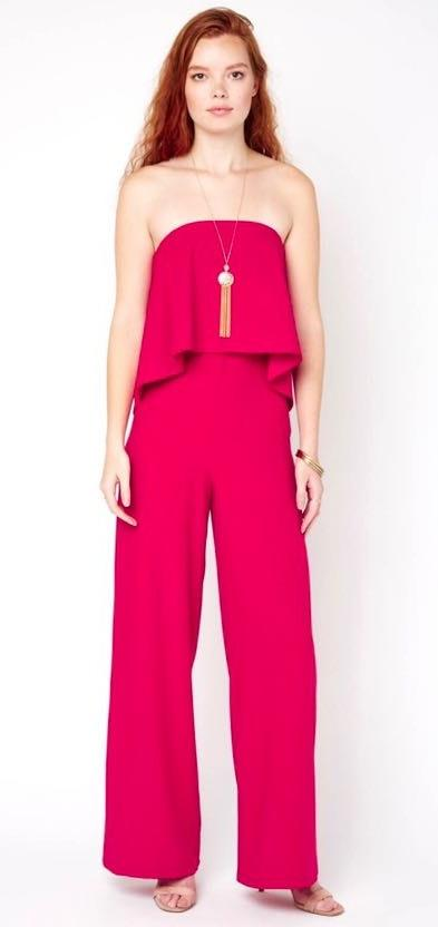 DO+BE Strapless Pink Jumpsuit