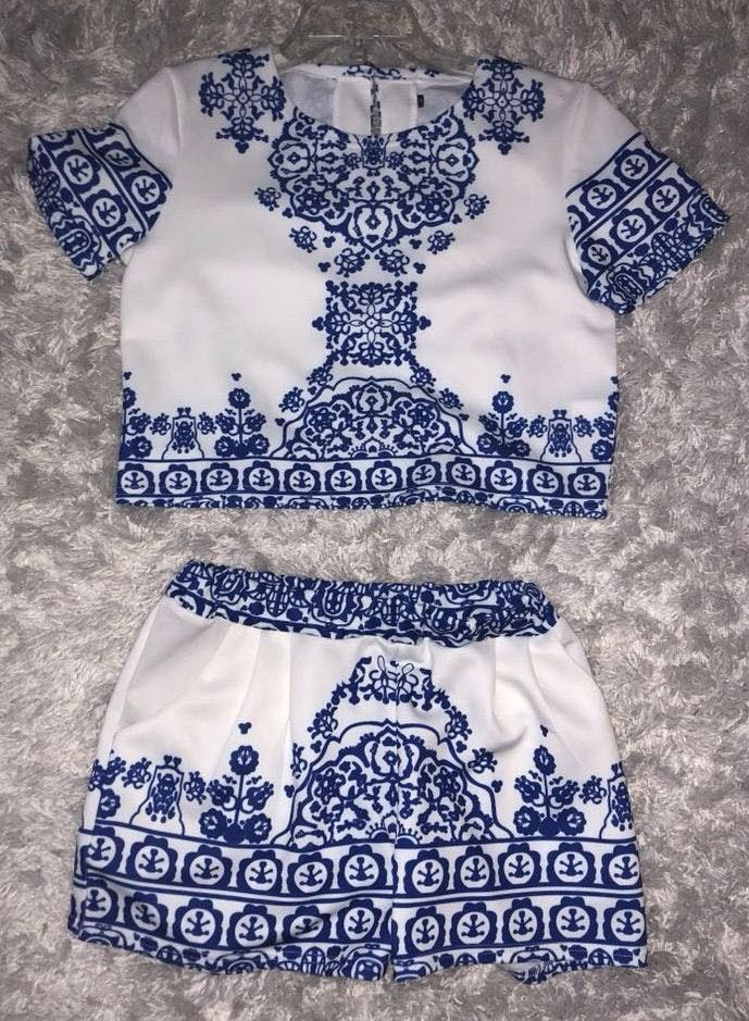 Zaful Two Piece White Outfit