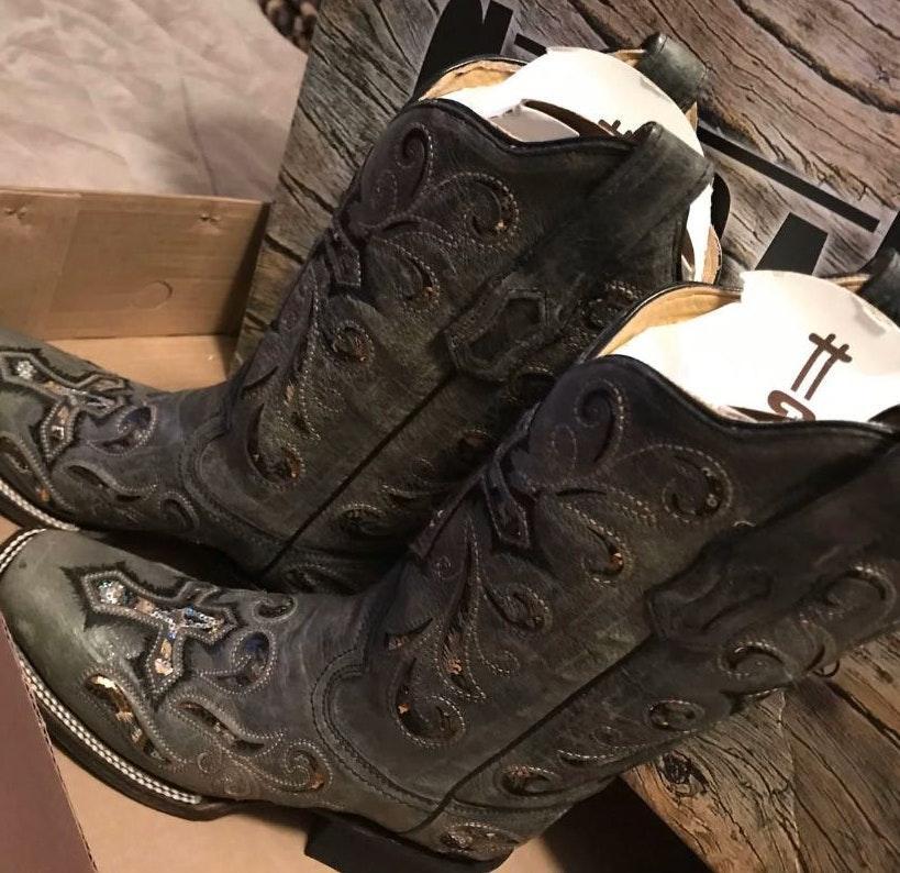 Corral Sequin Cross Boots