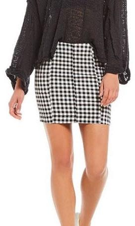 Free People Gingham Skirt