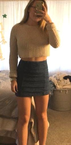 Urban Outfitters Tan Cropped Sweater