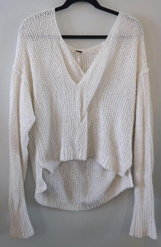 Free People Oversized White Sweater