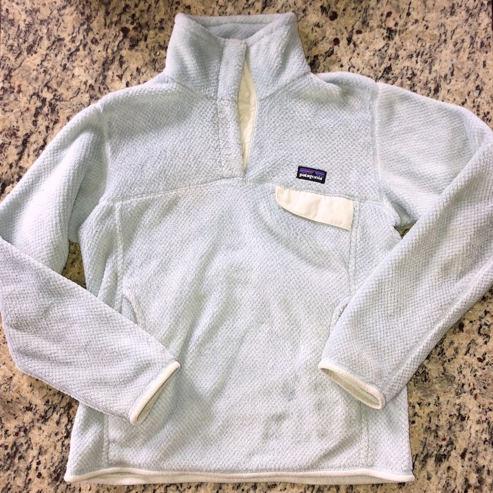 Patagonia Limited Edition Ice Blue  Re-Tool Snap-T Fleece Pullover