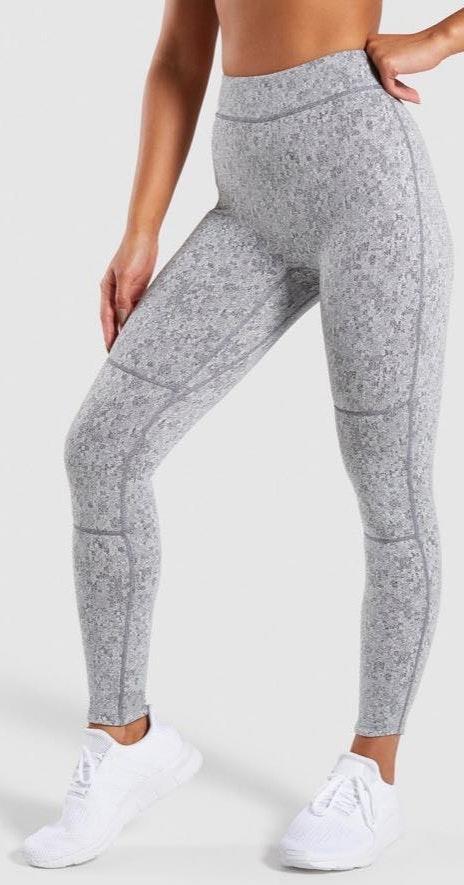 Gymshark Grey Fleur Leggings!