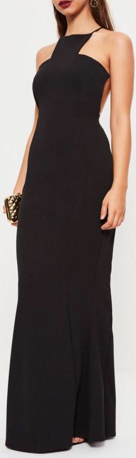 Missguided Long Black Maxi Dress