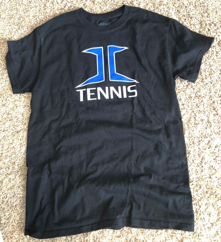 Gildan my school logo and tennis shirt