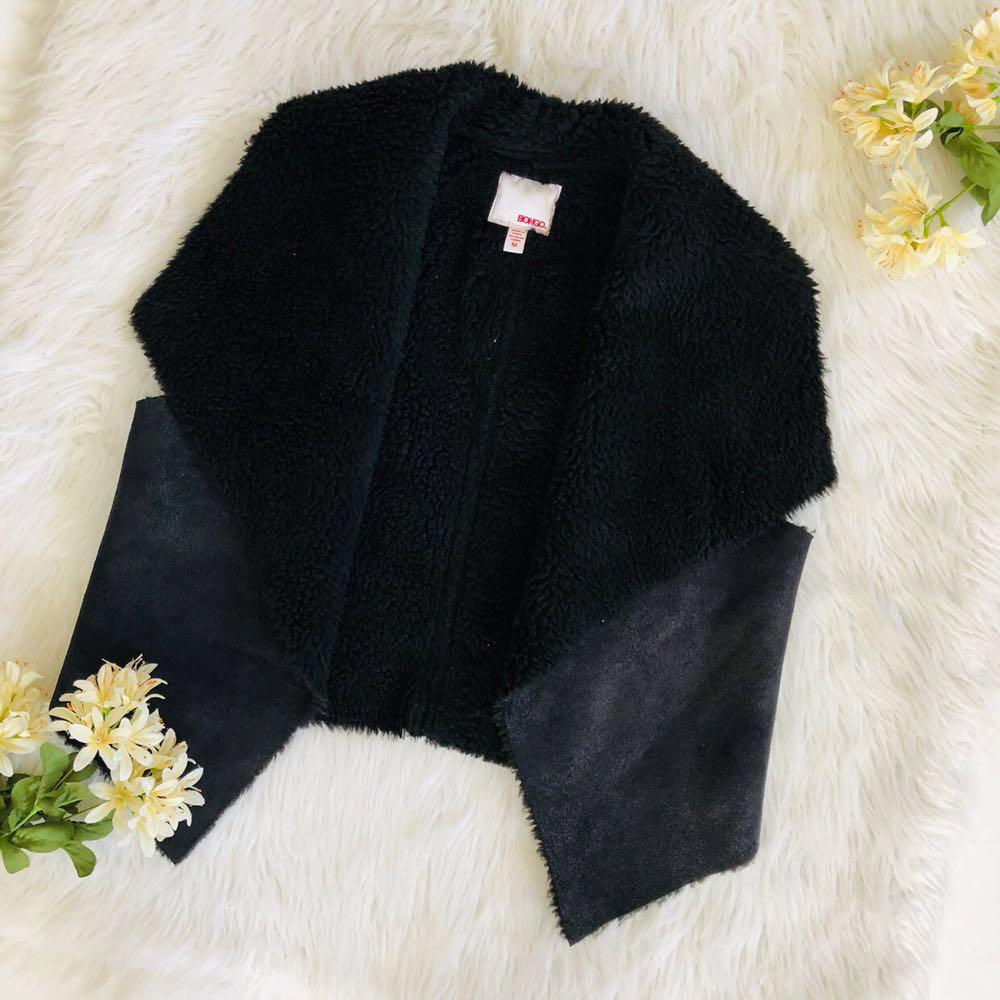 Bongo Faux Fur Vest in Black