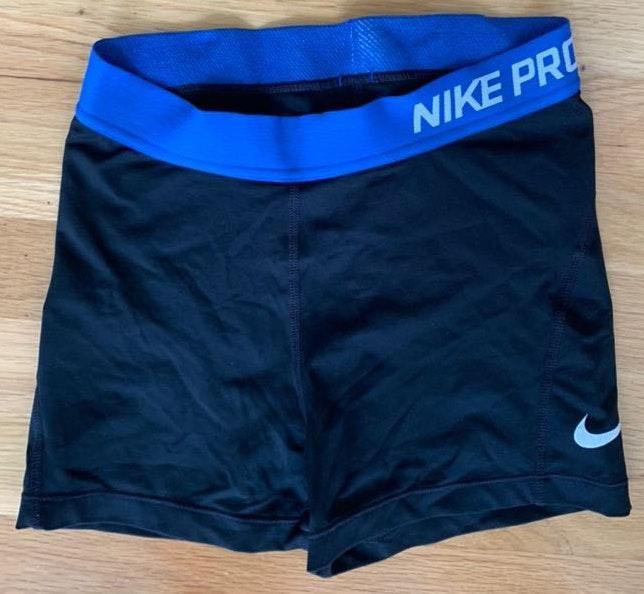 Nike blue/black spandex shorts