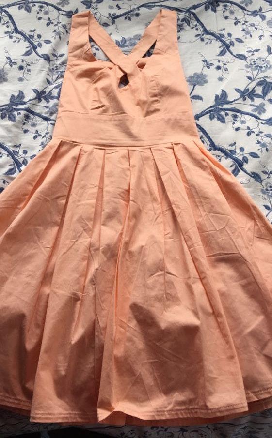 Xenia Peach Mini Dress