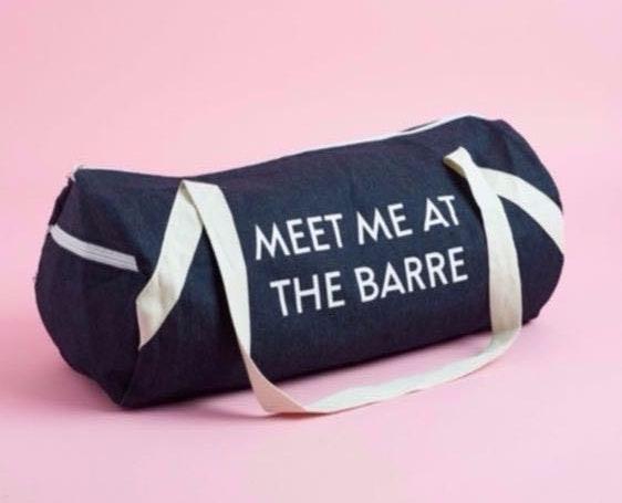 Denim Gym Bag