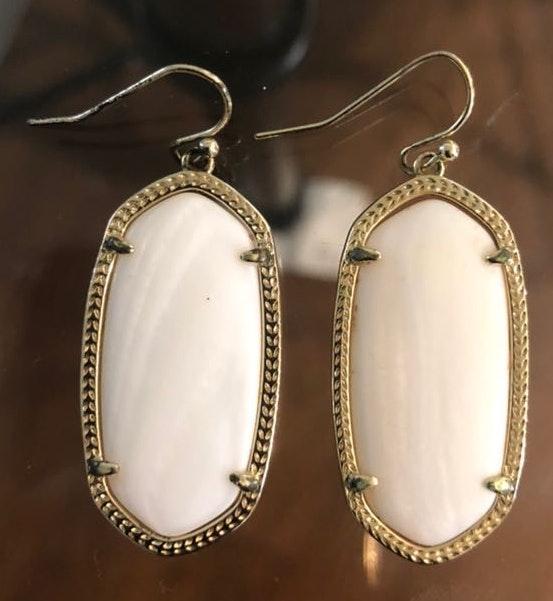 Kendra Scott Pearl White 'Danielle' Earrings