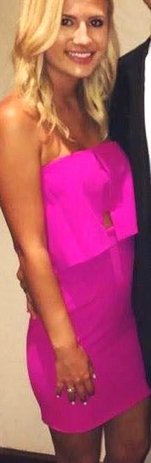 Jay Godfrey Pink strapless dress