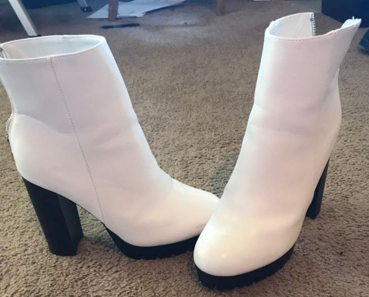 Nasty Gal White Ankle Boots