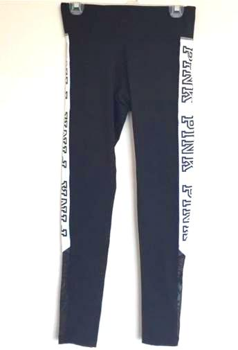 5cd194dee45c6 Victoria's Secret PINK Black And White Leggings With Mesh