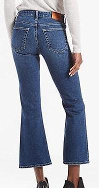 Lucky Brand Bridgette High Rise Cropped Flares