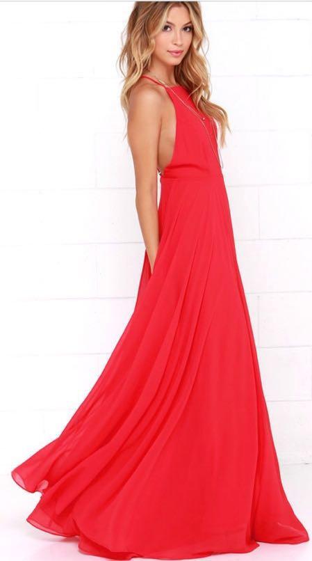 Lulus Red long formal dress