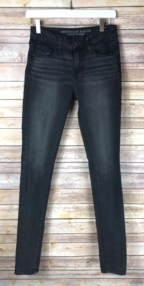 93000b9f31 We're the buy/sell app for cute clothes. Say to being bored of your  clothes. Home American Eagle Outfitters Hi Rise Super Stretch Long Black  Jeans
