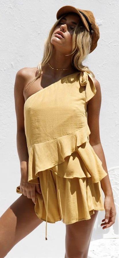 Sabo Skirt Yellow Playsuit