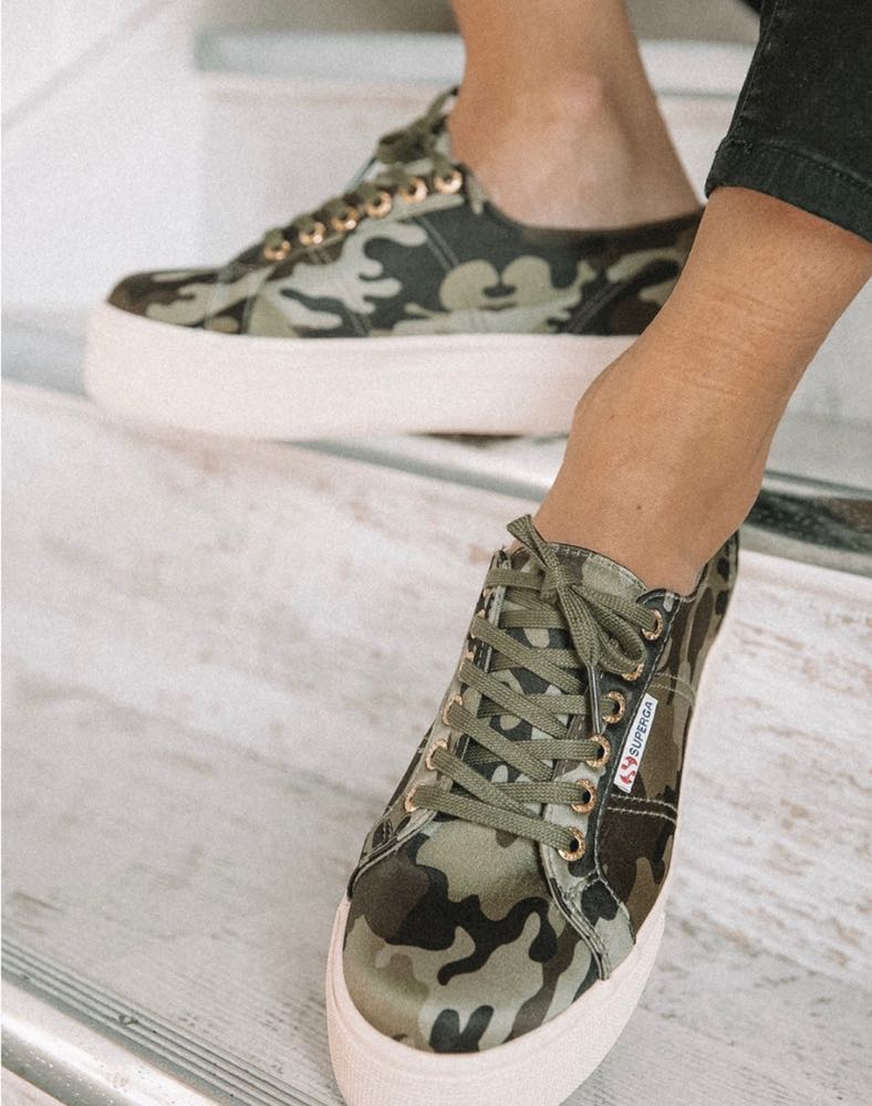 Camo Platform Superga Shoes