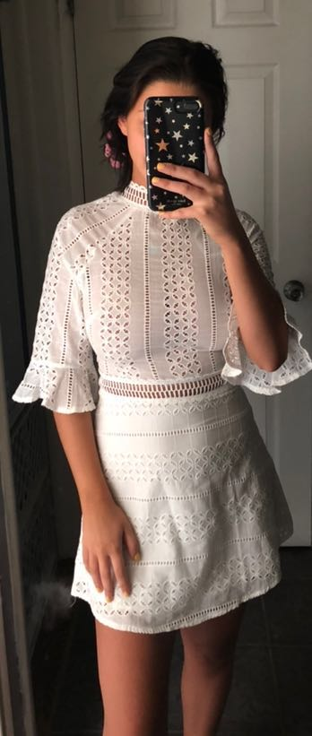 Hello Molly White Boho Dress