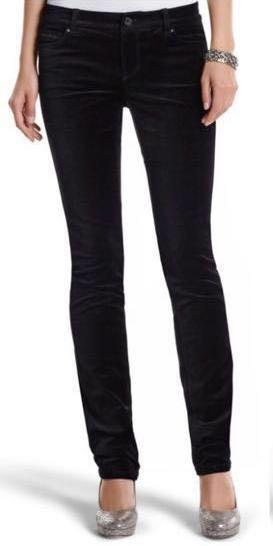 White House | Black Market NWT - The Mod (Slim) Noir Sparkle Velvet Pant