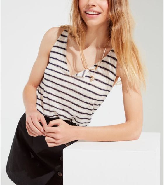 Project Social T UO Striped Textured Tank