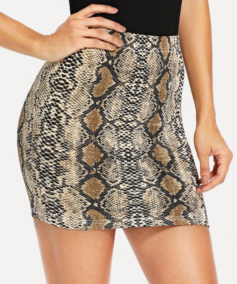 LF Snakeskin Skirt