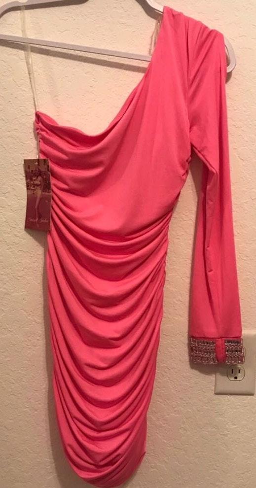 Emerald Sundae Pink Homecoming Dress