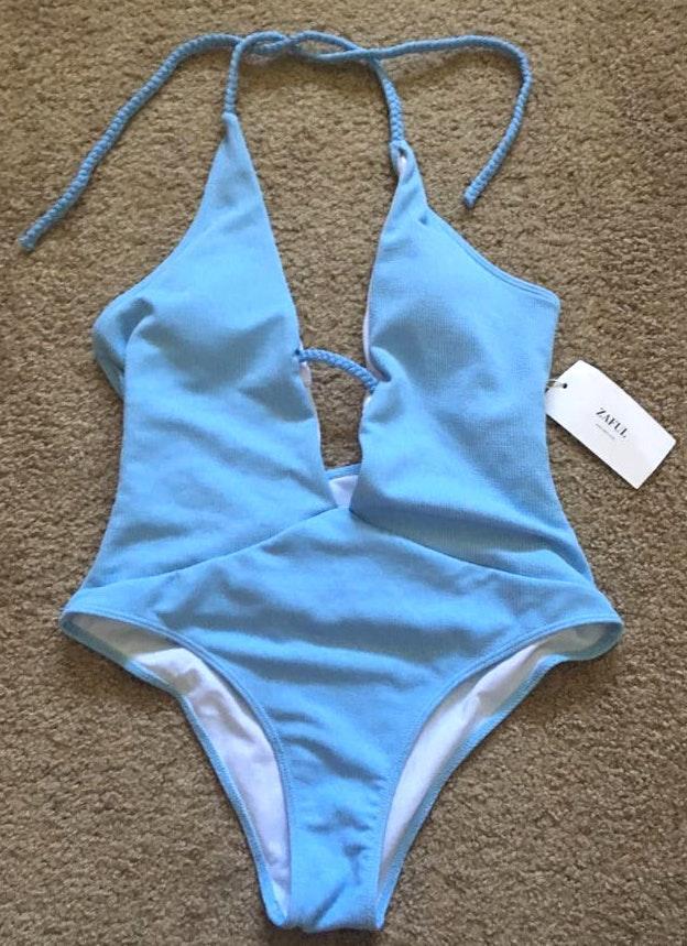 Zaful Open Back  Swimsuit