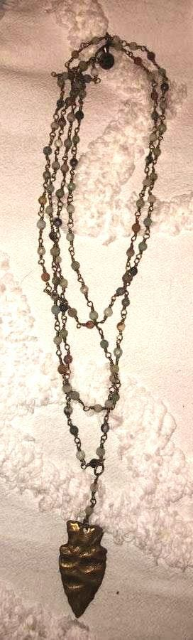 Raw & Rebellious Beaded Arrow Necklace