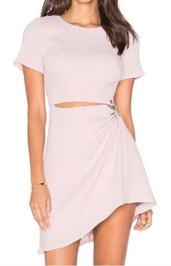 Stylestalker Thea Cutout Dress In Barely Pink