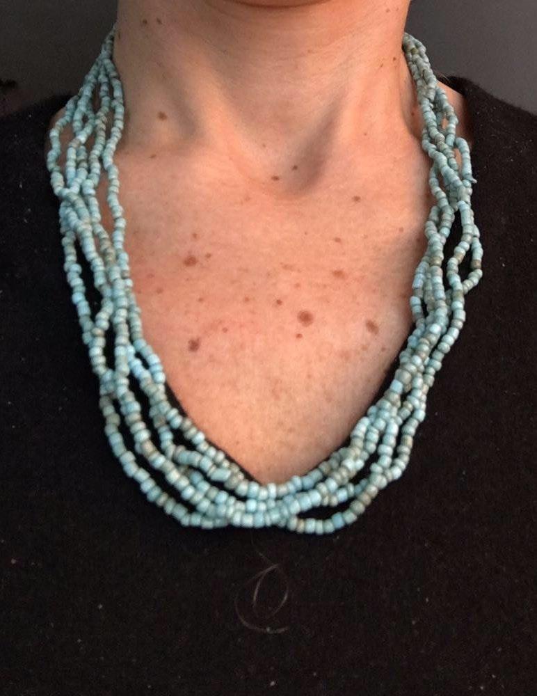 5 strand Twisted Turquoise Necklace