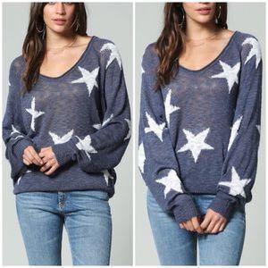 Blank Paige Blue Star Sweater