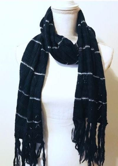Nine West Fringe Blue Scarf NWT