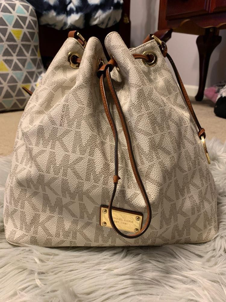 Michael Kors White MK Purse
