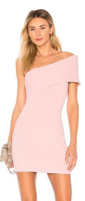 by the way. Diana One Shoulder Mini in Blush