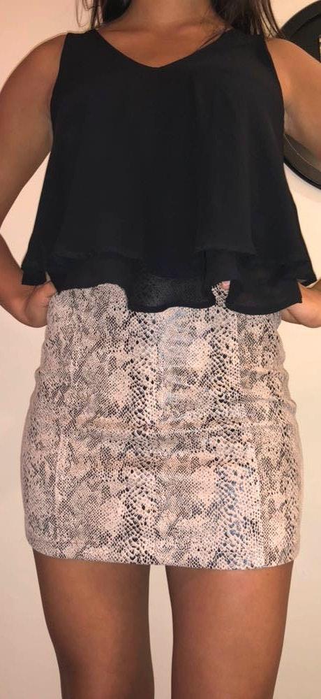 Wild Honey Snakeskin Skirt