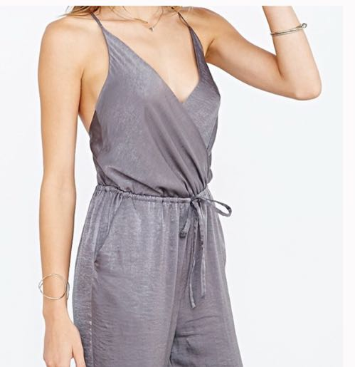 Silence + Noise Silver Jumpsuit