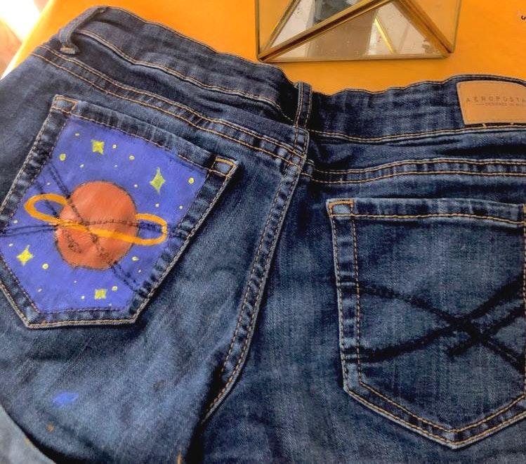 Handmade Painted Pocket Shorts