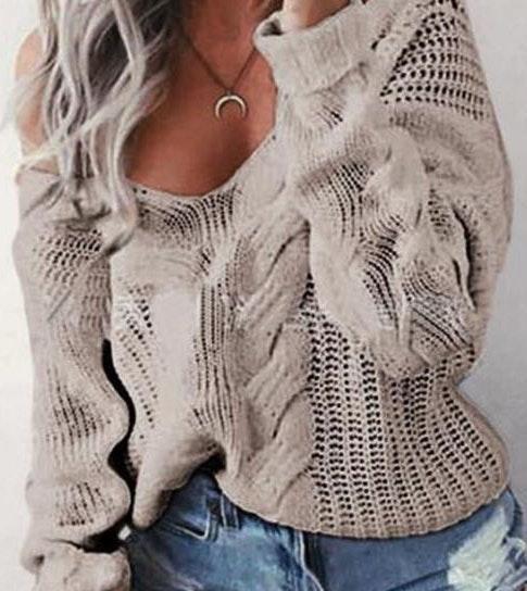 Zaful Tan Knit Loose Fit Sweater