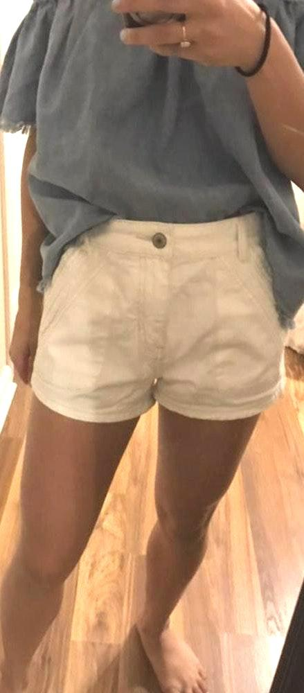 Free People Sweet Surrender High Waisted White Jean Shorts