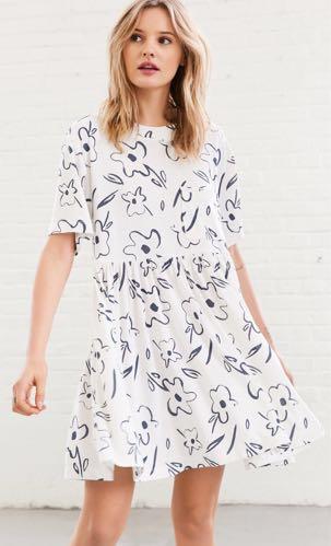4739cd0339e5 Silence + Noise Babydoll Mini Tshirt Dress